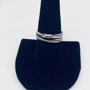 David Yurman 8. Single X Crossover Ring …